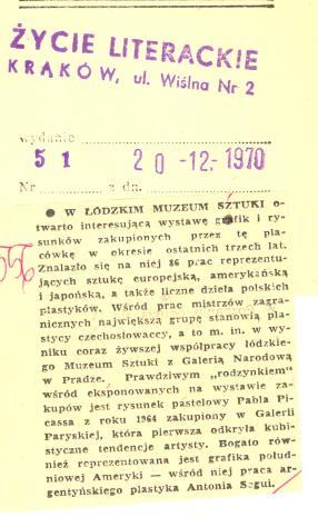 W Łódzkim Muzeum Sztuki otwarto interesującą wystawę grafik i rysunków  [...]
