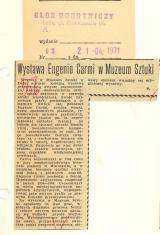 Wystawa Eugenio Carmi w Muzeum Sztuki