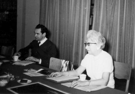 Z prawej red. Jadwiga Sakowicz (Głos Robotniczy)