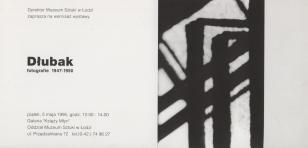 [Zaproszenie] Dłubak. Fotografie 1947 - 1950 [...]