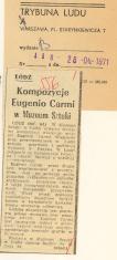 Kompozycje Eugenio Carmi w Muzeum Sztuki