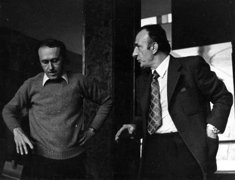 Stanislav Kolibal i Michał Kuna (Biblioteka Uniwersytetu Łódzkiego)