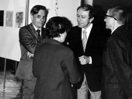 Od lewej Janusz Dunin (BUŁ), Krystyna Bieńkowska (wicedyrektor BUŁ), Stanislav Kolibal, dyr. Ryszard Stanisławski