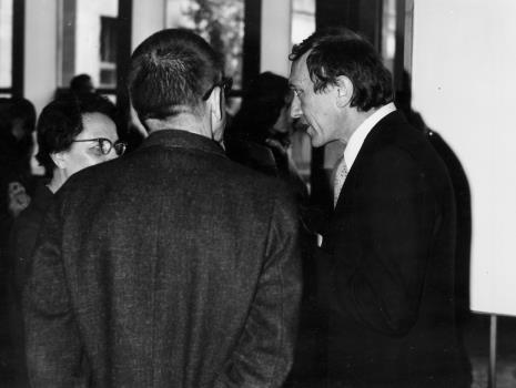 Od lewej Krystyna Bieńkowska (wicedyrektor BUŁ), dyr. Ryszard Stanisławski, Stanislav Kolibal