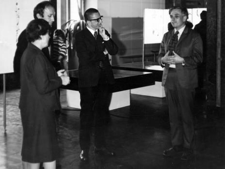 Od lewej Krystyna Bieńkowska (wicedyrektor BUŁ), Stanislav Kolibal, dyr. Ryszard Stanisławski, Janusz Dunin (BUŁ)