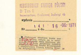 Ciekawym obiektem Łodzi jest Muzeum Sztuki: [...]