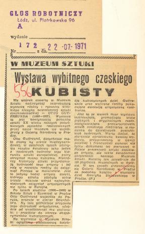 Wystawa wybitnego czeskiego Kubisty