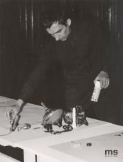 Milan Grygar w sali odczytowej ms