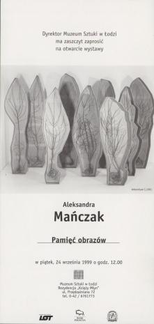 [Zaproszenie] Aleksandra Mańczak. Pamięć obrazów [...]