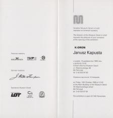 [Zaproszenie] K-DRON. Janusz Kapusta [...]