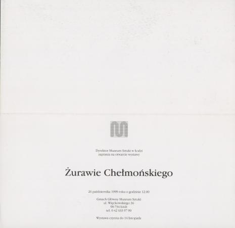 [Zaproszenie] Żurawie Chełmońskiego [...]