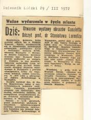 Otwarcie wystawy obrazów Canaletta. Odczyt prof.dr  Stanisława Lorentza