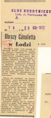 Obrazy Canaletta w Łodzi