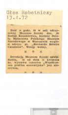 Dziś o godz. 18 w sali odczytowej Muzeum Sztuki doc.dr Stafan Kozakiewicz [...]