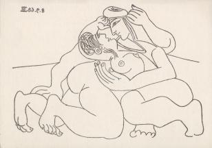[Zaproszenie] Pablo Picasso. grafika z okresu od 16.3.68 do 5.10.68 [...]