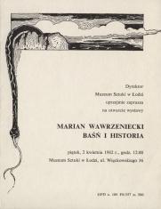 [Zaproszenie] Marian Wawrzeniecki. Baśń i historia [...]