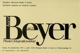 [Zaproszenie] Karol Beyer 1818 - 1877. Pionier fotografii polskiej [...]