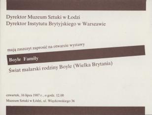 [Zaproszenie] Boyle Family. Świat malarski rodziny Boyle (Wielka Brytania) [...]
