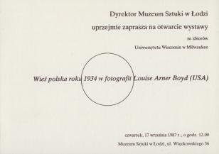 [Zaproszenie] Wieś polska 1934 roku w fotografii Louise Arner Boyd (USA) [...]