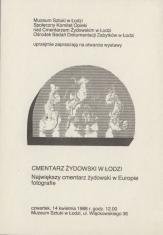 [Zaproszenie] Cmentarz żydowski w Łodzi. Największy cmentarz żydowski w Europie fotografie [...]