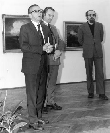 Od lewej dyr. R. Stanisławski, Włodzimierz Pośpiech (dyrektor Wydziału Kultury i Sztuki RN), Wojciech Ekiert (wicedyr. Wydziału Kultury i Sztuki RN)