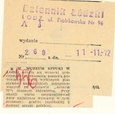 W Muzeum Sztuki w Łodzi odbyła się wczoraj uroczystość przekazania zestawu powielanych dzieł [...]
