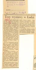 Trzy wystawy w Łodzi