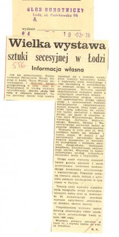 Wielka wystawa sztuki secesyjnej w Łodzi
