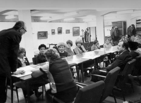 Dokumentacja wystawy w Zakładach Tekstylno - Konfekcyjnych Teofilów w Łodzi