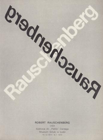 [Folder/Katalog] Robert Rauschenberg USA. Ilustracje do