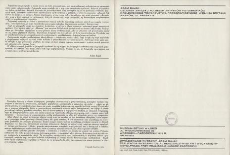 [Folder/Katalog] Adam Bujak. Misteria.