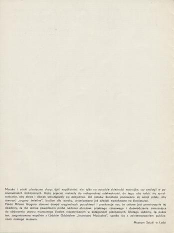 [Folder/Katalog] Milan Grygar. Partytury i rysunki akustyczne. Realizacje dźwiękowe. [...]