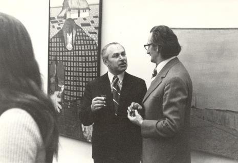 Ryszard Brudzyński (wicedyrektor ms) i doc. Jerzy Wolski (Pracownia Konserwatorska)