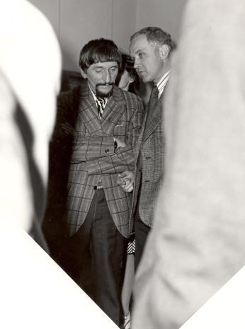 Z lewej malarz Benon Liberski