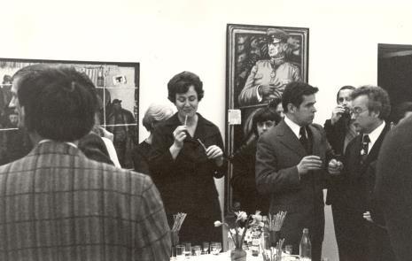 W środku Janina Ojrzyńska (Dział Naukowo - Oświatowy), po prawej dr Jacek Ojrzyński (Dział Dokumentacji Naukowej)