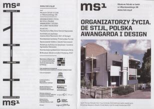 [Ulotka/Folder] Organizatorzy życia. De Stijl, polska awangarda i design