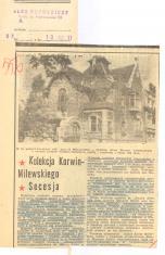 Kolekcja Korwin-Milewskiego; Secesja