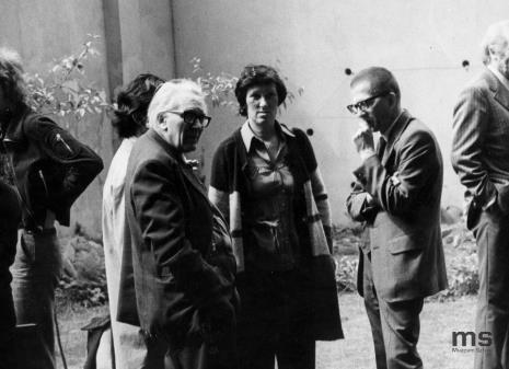 W środku Alfred Lenica i dyr. Ryszard Stanisławski