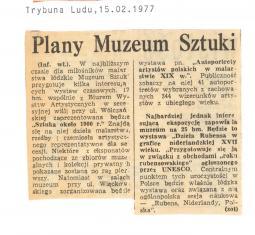 Plany Muzeum Sztuki