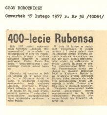 400-lecie Rubensa