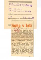 Secesja w Łodzi