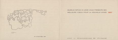 [Druk promocyjny] Muzeum Sztuki w Łodzi vous presente ses meilleurs voeux pour la nouvelle annee.