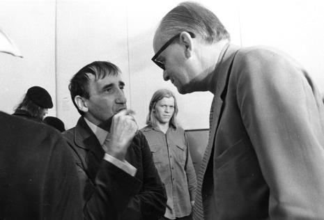Z lewej Tadeusz Kantor