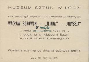 [Zaproszenie] Wacław Borowski -