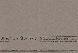 [Zaproszenie] Jindrich Styrsky 1899-1942 malarstwo-rysunek-collage-fotografia [...]