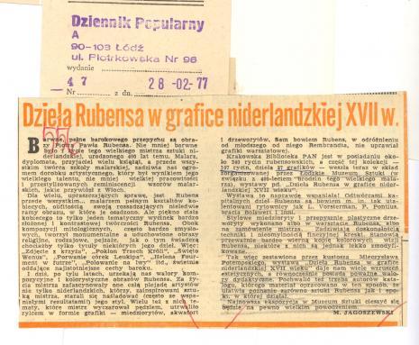 Dzieła Rubensa w grafice niderlandzkiej XVII w.