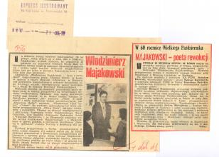 W 60 rocznicę Wielkiego Października. Majakowski - poeta rewolucji