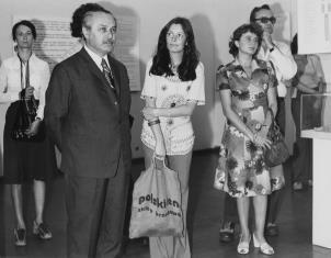 Od lewej Urszula Czartoryska (Dział Fotografii Technik Wizualnych), Ryszard Brudzyński (wicedyrektor ms), Krystyna Potocka (Wydział Kultury RN m. Łodzi), Teresa Oziemska (Wytwórnia Filmów Oświatowych), Tadeusz Paliński (Wytwórnia Filmów Oświatowyc)
