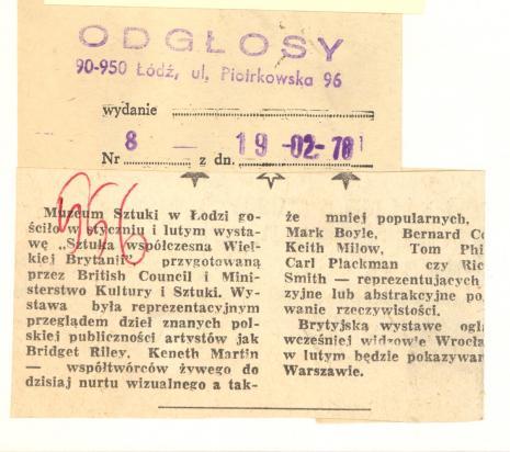 Muzeum Sztuki w Łodzi gościło w styczniu i lutym wystawę