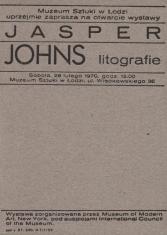 [Zaproszenie] Jasper Johns litografie [...]